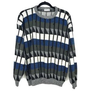 3 for $20- Vintage Area Geometric Soft Sweater